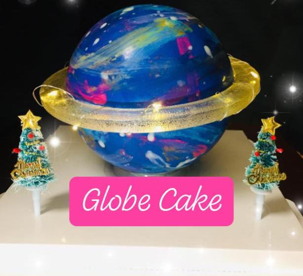 galaxy globe cake first time in india